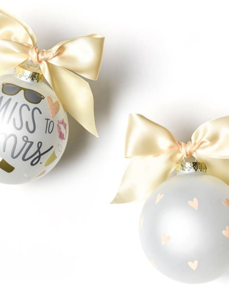 Coton Colors - Miss To Mrs. Glass Ornament