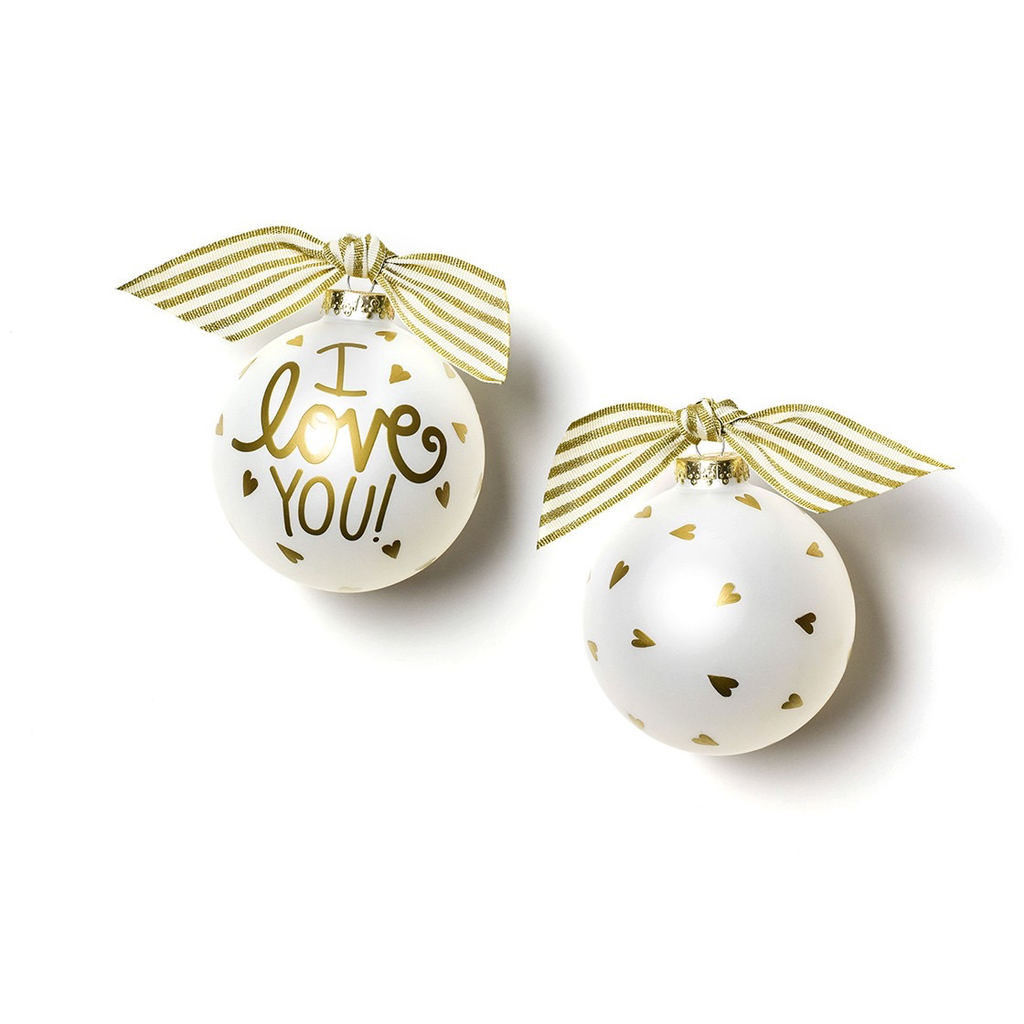 Coton Colors - I Love You Glass Ornament