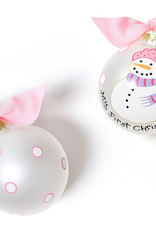 Coton Colors - My First Ornament Snowman Girl Glass Ornament