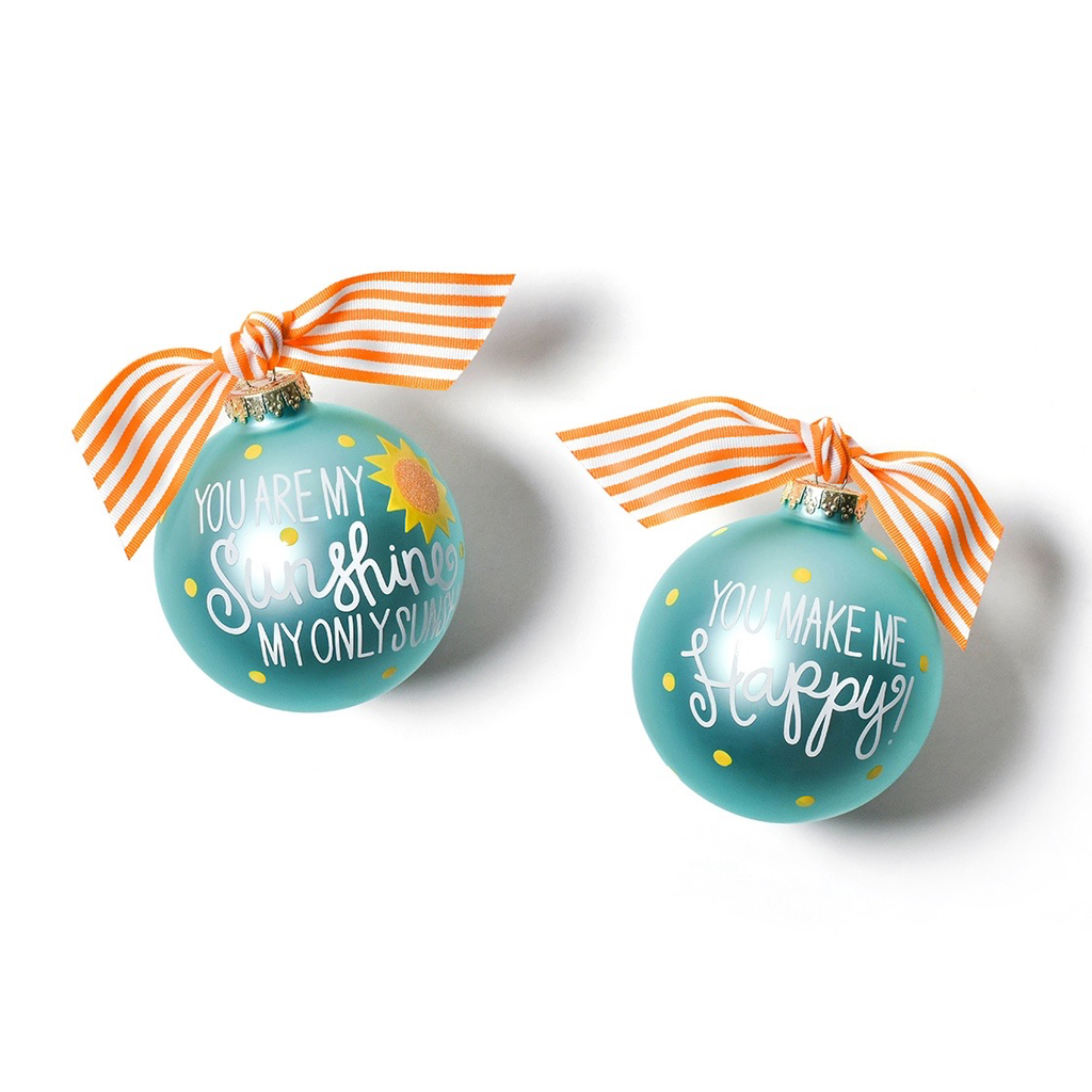 Coton Colors - You Are My Sunshine Glass Ornament