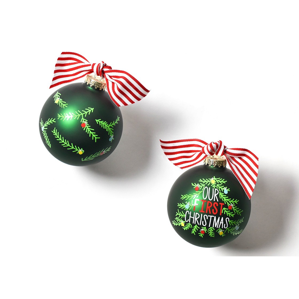 Coton Colors - Our First Christmas Tree 100MM Glass Ornament
