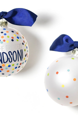 Coton Colors - You're the Greatest Grandson Bright Confetti Glass Ornament