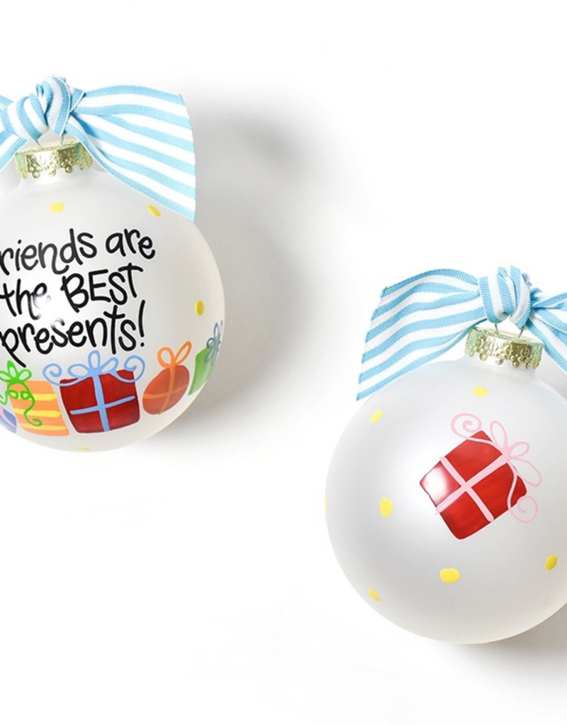 Coton Colors - Friends Are The Best Presents Glass Ornament