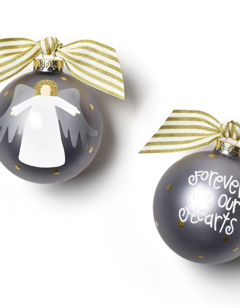 Coton Colors - Forever in Our Hearts Angel Glass Ornament