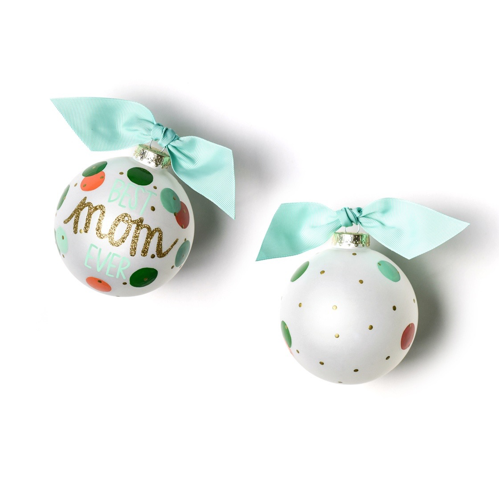 Coton Colors - Best Mom Ever Glass Ornament