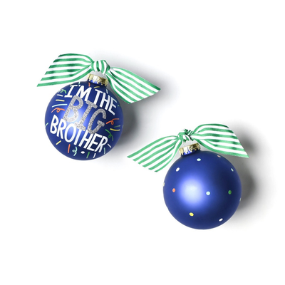 Big Brother Popper Glass Ornament