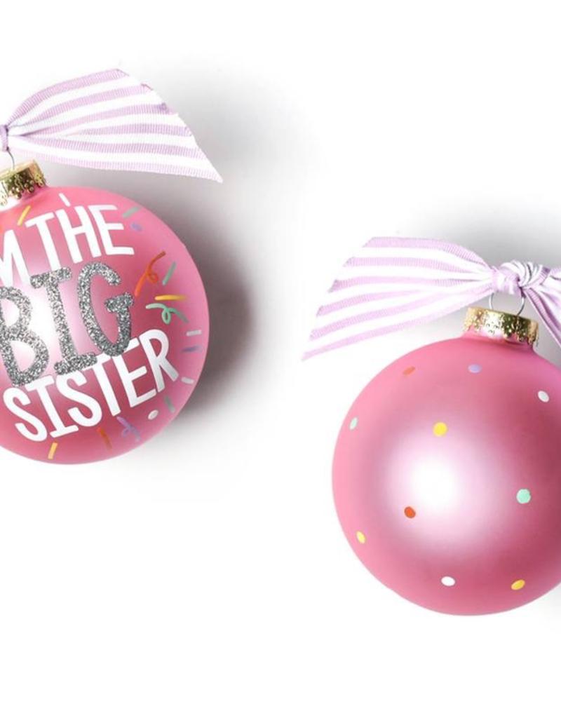 Coton Colors - Big Sister Popper Glass Ornament