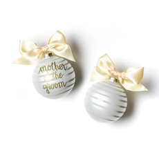 Coton Colors - Stripe Mother of the Groom Glass Ornament