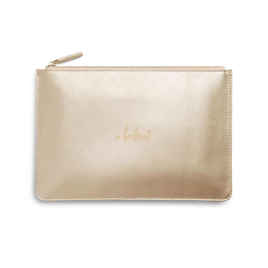 Katie Loxton Perfect Pouch - Be Brilliant - Metallic Gold