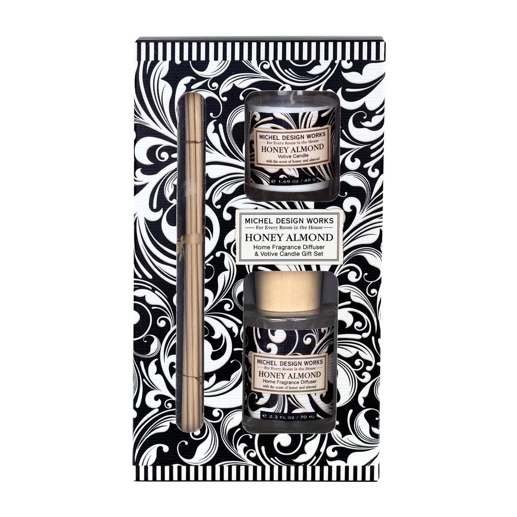 Michel Design Works Michel Design Works Diffuser & Candle Set - Honey Almond