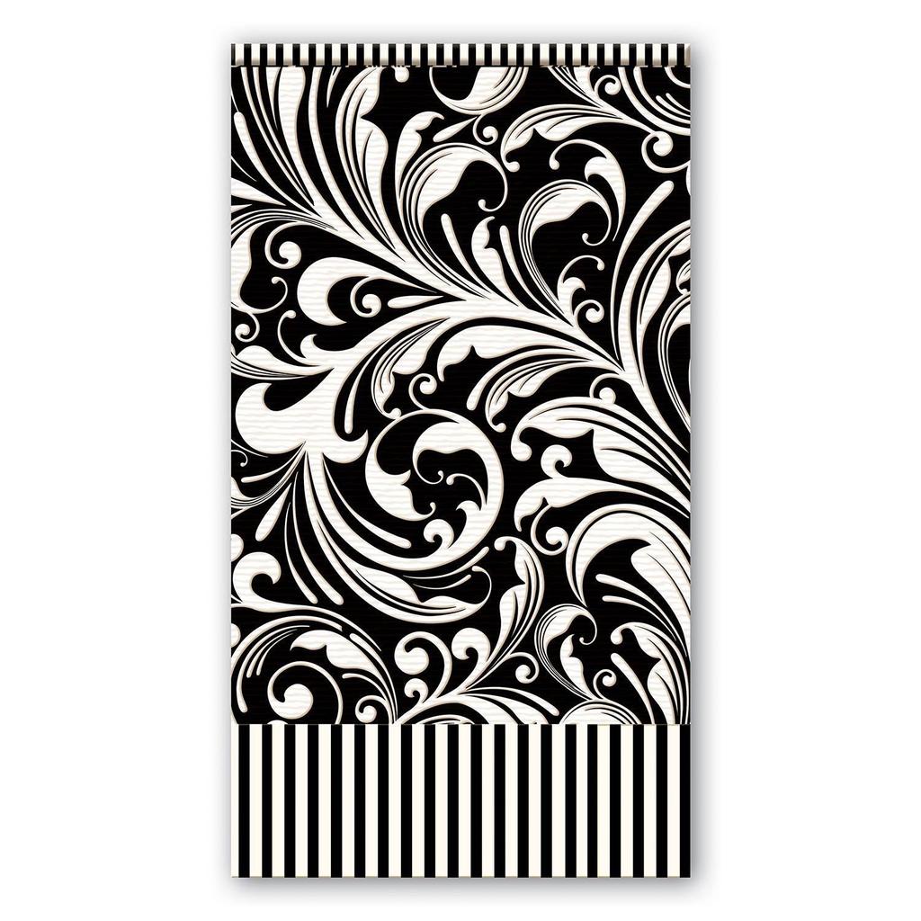 Michel Design Works Michel Design Works Hostess Napkins  - Black Florentine