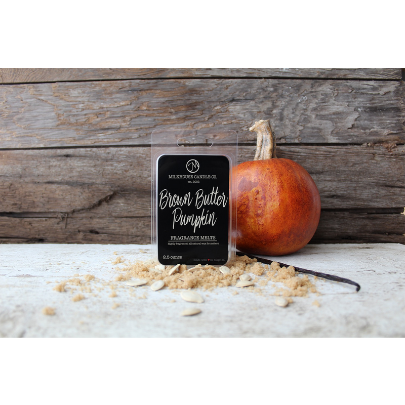 Milkhouse Candle Creamery Brown Butter Pumpkin  5.5 oz Fragrance Melt