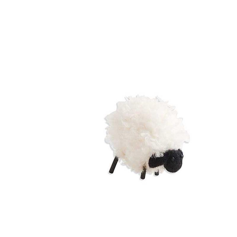 "K&K Interiors K&K 4"" Wooly Black Faced Sheep"