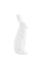 4.75 inch White Porcelain Rabbit Sitting w/ Ears Up