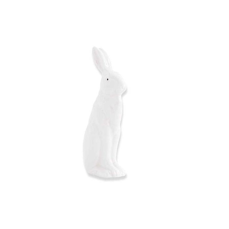 """K&K Interiors K&K 4.75"""" White Porcelain Rabbit Sitting with Ears Up"""