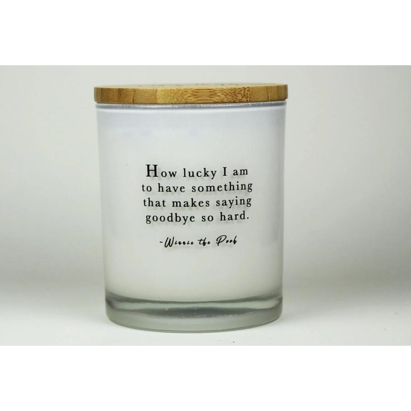 Unplug Soy Candles How Lucky Am I Candle