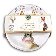 Michel Design Works Michel Design Works Melamine Accent Plate Set - Garden Party