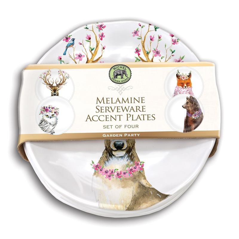 Michel Design Works Melamine Accent Plate Set - Garden Party