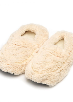 Warmies@ Plush Body Slippers Cream