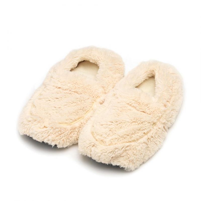 Warmies Warmies@ Plush Body Slippers Cream