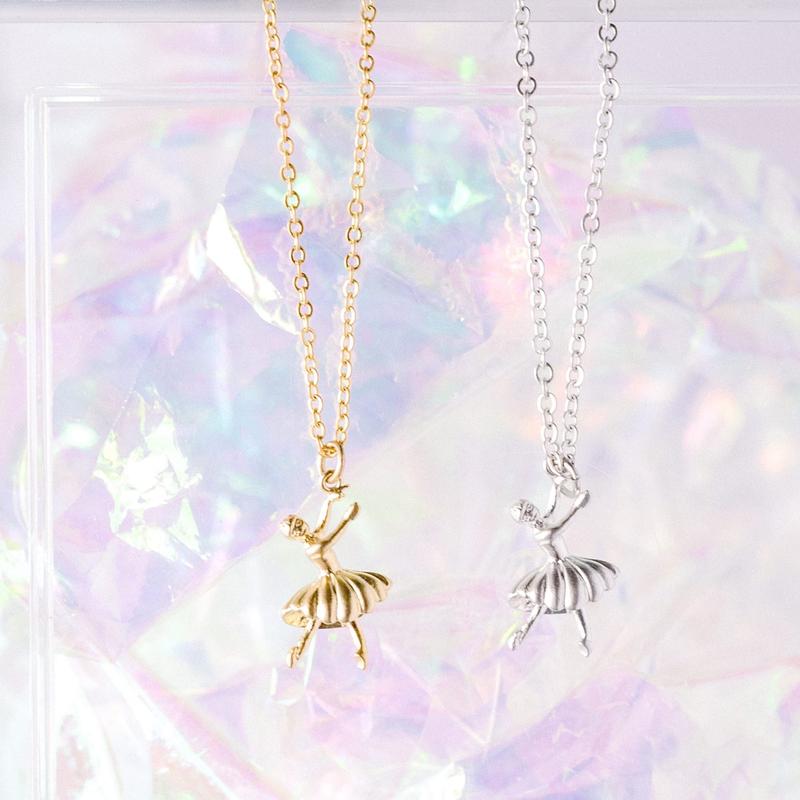 Rebecca Silver Ballerina Necklace