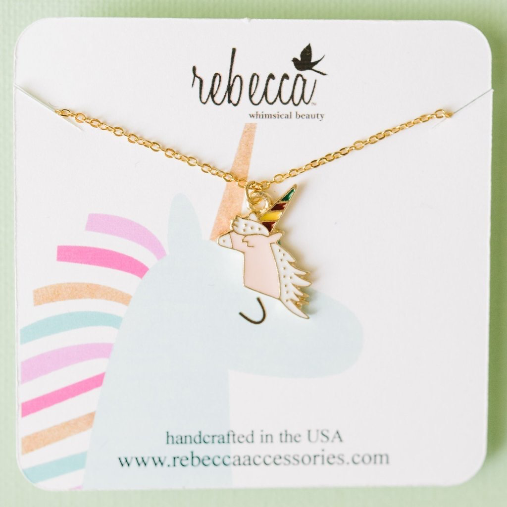 Rebecca Birthday Unicorn Necklace
