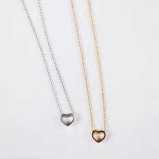 Rebecca Heart Cut Out Necklace - Silver