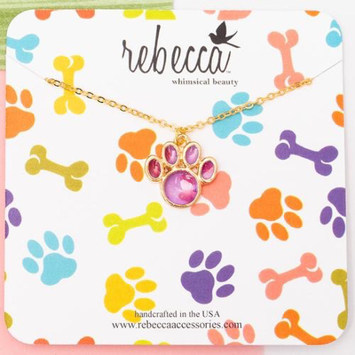 Rebecca Paw Print Necklace