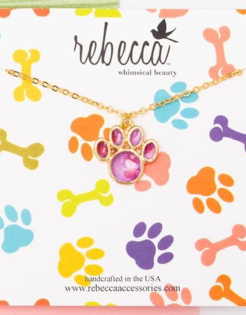 Rebecca Paw Print Necklace