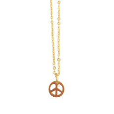 Rebecca Peace Sign Necklace - Gold