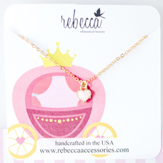 Rebecca Pink Heart necklace