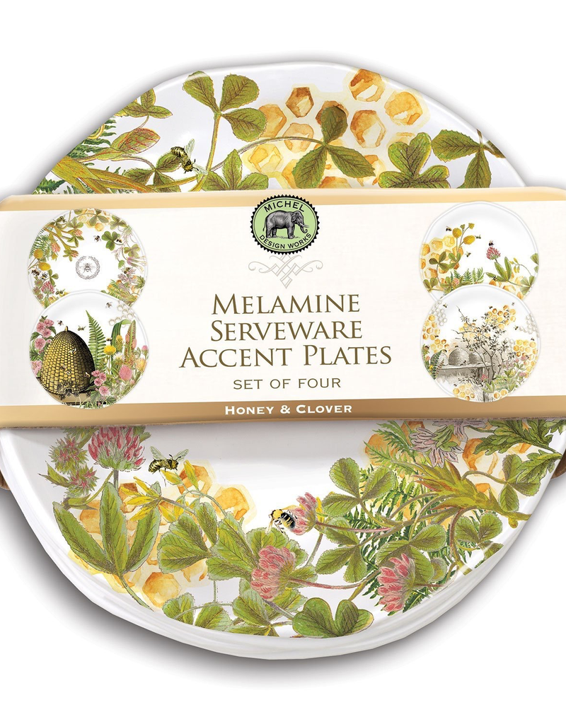 Michel Design Works - Honey & Clover Melamine Plate Set