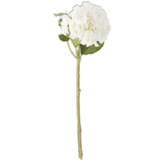 "K&K Interiors K&K 20"" White Real Touch Hydrangea Spray"