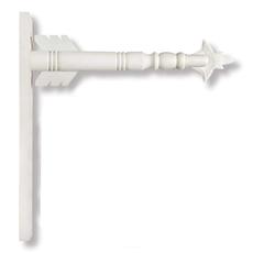 """K&K Interiors K&K 17.5"""" White Wood Arrow Holder"""