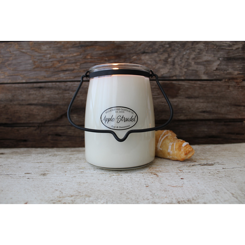Milkhouse Candle Creamery Milkhouse Candle Creamery Butter Jar 22 oz:  Apple Strudel