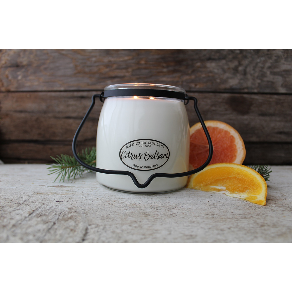 Milkhouse Candle Creamery Milkhouse Candle Creamery Butter Jar 16 oz:  Citrus Balsam