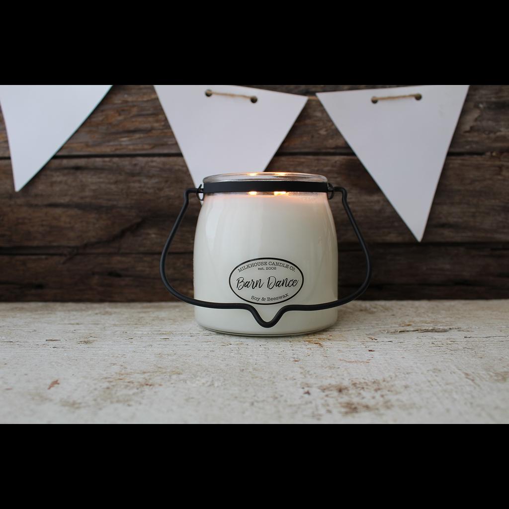Milkhouse Candle Creamery Milkhouse Candle Creamery Butter Jar 16 oz:  Barn Dance