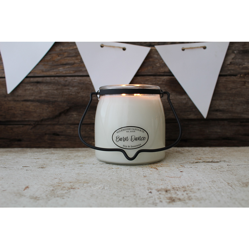Milkhouse Candle Creamery Barn Dance 16 oz  Butter Jar Candle