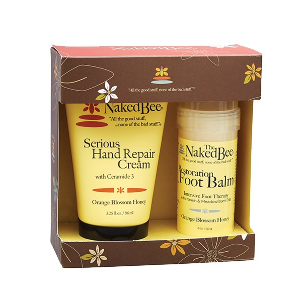 The Naked Bee Hands & Feet Gift Set - Orange Blossom Honey