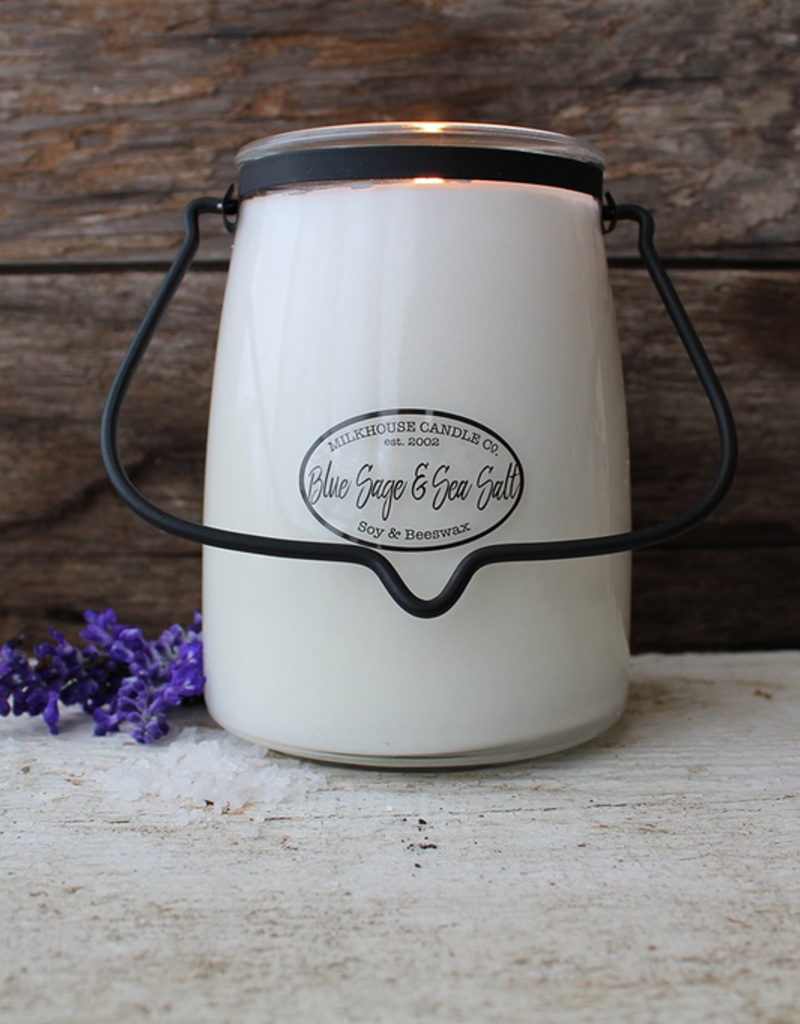 Milkhouse Candle Creamery Milkhouse Candle Creamery Butter Jar 22 oz:  Blue Sage & Sea Salt