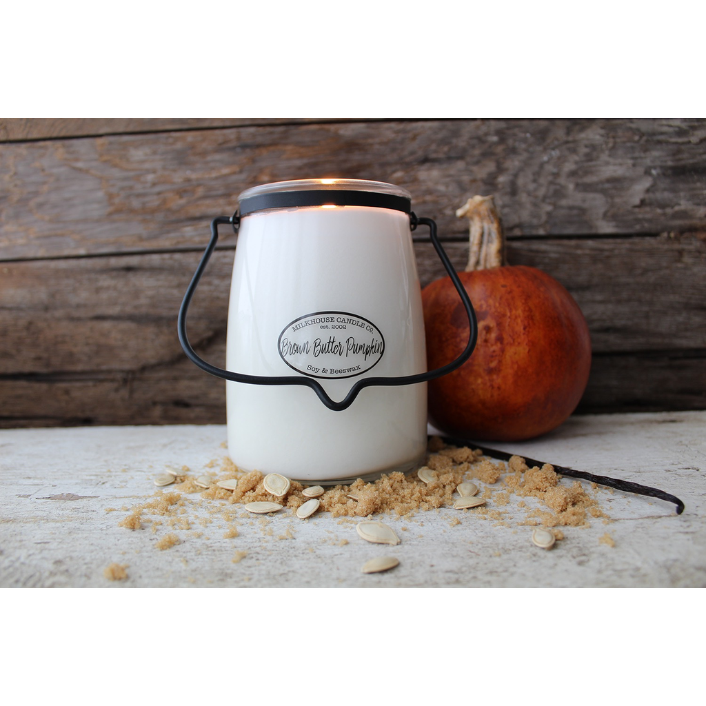 Milkhouse Candle Creamery Milkhouse Candle Creamery Butter Jar 22 oz:  Brown Butter Pumpkin