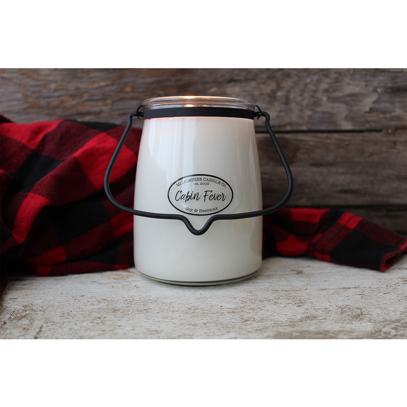 Milkhouse Candle Creamery Cabin Fever 22 oz  Butter Jar Candle