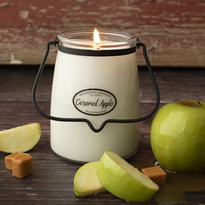 Milkhouse Candle Creamery Milkhouse Candle Creamery Butter Jar 22 oz:  Caramel Apple