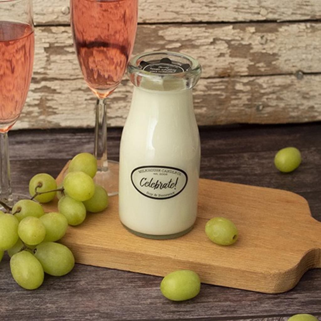 Milkhouse Candle Creamery Milkhouse Candle Creamery Milk Bottle:  Celebrate!
