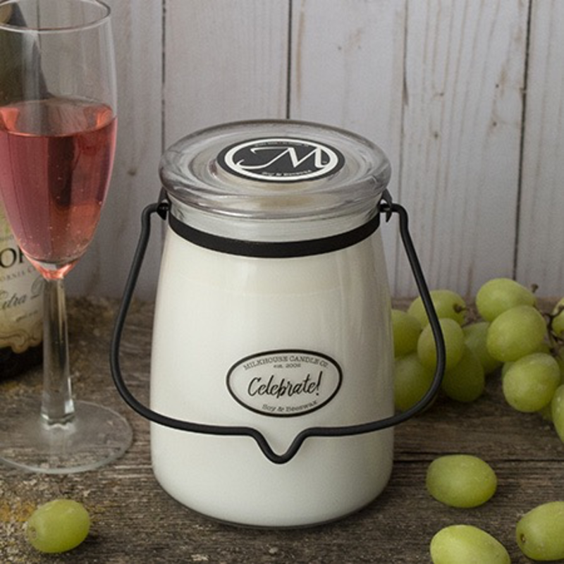 Milkhouse Candle Creamery Celebrate! 22 oz  Butter Jar Candle