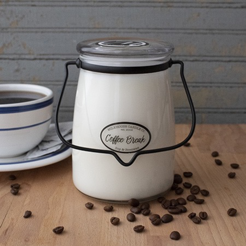 Milkhouse Candle Creamery Coffee Break 22 oz  Butter Jar Candle