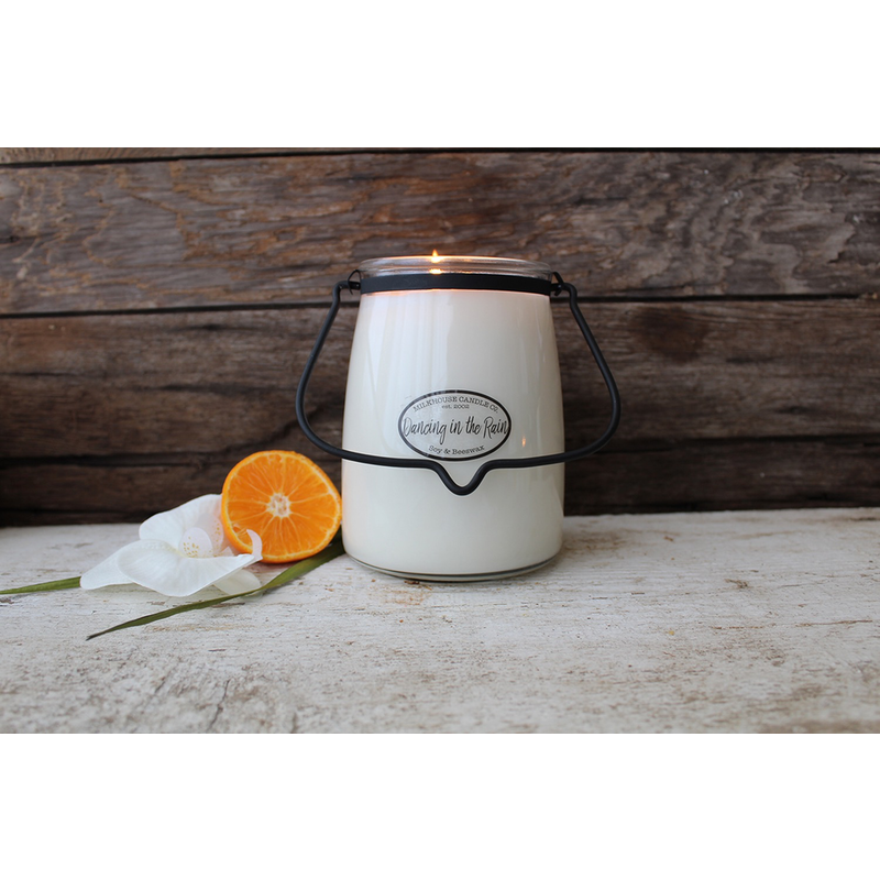 Milkhouse Candle Creamery Dancing in the Rain 22 oz  Butter Jar Candle