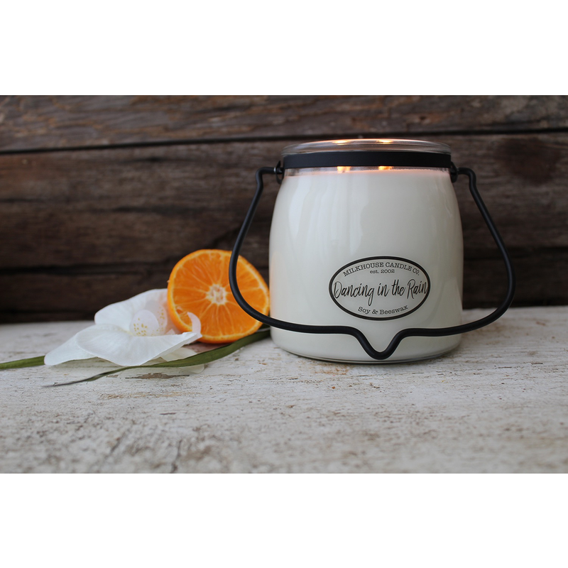 Milkhouse Candle Creamery Dancing in the Rain 16 oz Butter Jar Candle