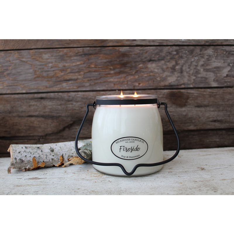 Milkhouse Candle Creamery Fireside 16 oz  Butter Jar Candle