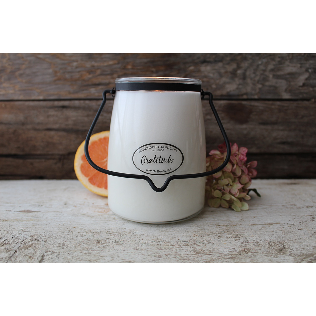 Milkhouse Candle Creamery Milkhouse Candle Creamery Butter Jar 22 oz:  Gratitude
